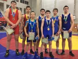 Омские борцы завоевали семь наград на первенстве СФО в Абакане