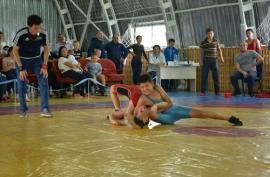 Омская команда выступила на борцовском турнире в Казахстане